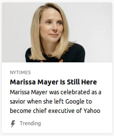 "By NYTimes. Photo o' who is presumably Marissa Mayer. ""Marissa Mayer was celebrated as a savior when she left Google to become chief executive of Yahoo"""