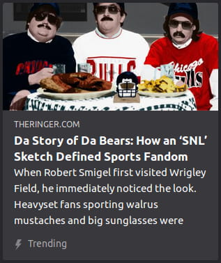 By the Ringer. Image is a still frame o' Da Bears sketch.