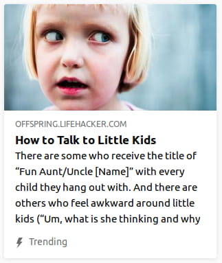By Offspring Lifehacker. Close-up photo o' young girl with bug eyes staring @ something off-screen to the right.