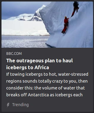 By the BBC. Photo o' people climbing an iceberg.
