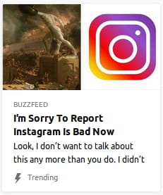 By BuzzFeed. Painting o' Rome burning next to Instagram's dumbass rainbow icon.