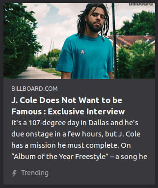 By Billboard. A photo o' some schmuck who may or may not be J. Cole.