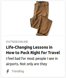 By Outside Online. Photo o' badly-folded brown pants in white void.