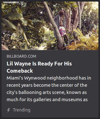 By Billboard. Photo o' Li'l Wayne walking through a beach forest in beach clothes.