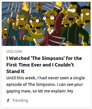 By Vice. Screencap o' the Simpsons with angry mob with pitchforks.