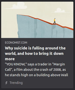 "By The Economist. Illustration o' a guy walking back down a long cliff. ""YOU KNOW, says a trader in 'Margin Call', a film about the crash of 2008, as he stands high on a building above Wall"""