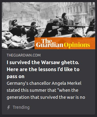 By The Guardian. Photo o' men in Warsaw holding rifles.