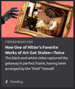 By The Daily Beast. Picture o' black-gloved hand reaching for painting.